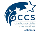 Logo: OCCS, Oklahoma Child Care Services Scholars.