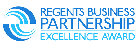 Logo: Regents Business Partnership Excellence Award.
