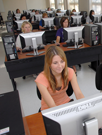 Students in a computer lab.