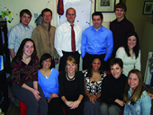 Photo of USAO alumni working at Tate Publishing.