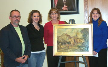 Photo of ECU's Long family art donation.