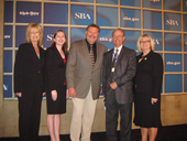 Photo of SWOSU's Small Business Development award winners.