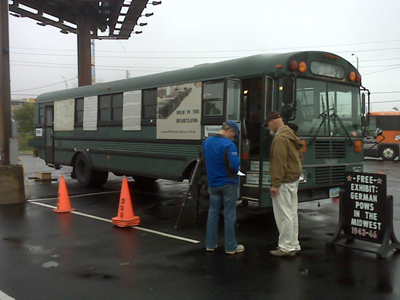 "Photo of ""bus-eum"" exhibit at OSU-Tulsa."