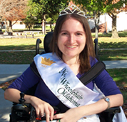 Photo of ECU's Ms. Wheelchair Oklahoma Samantha Moreno.