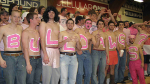 Photo of Pink Out Night at the SWOSU basketball games.