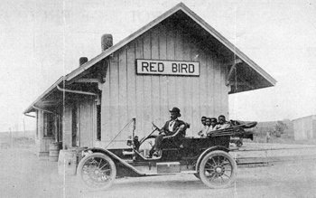 Photo of Red Bird Depot -- CU's All Black Towns exhibit.