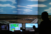 Photo of TCC's new air traffic control simulator.