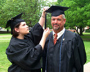 Photo of ECU graduates father and daughter D'Lisa and Frank Fox.