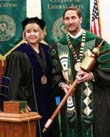 Photo of President Don Betz and Regent Jan Norman during his inauguration.