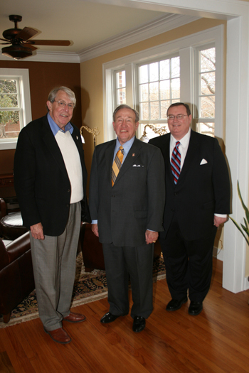Photo of John Massey, President Feaver and Chancellor Johnson.