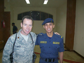 Photo of OSU Air Force instructor, Iraqi student.