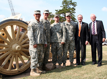 Photo of Army ROTC cadets and OSU personnel.