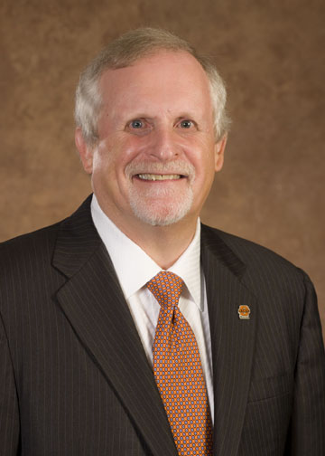 Photo of OSU-Tulsa's new president, Howard Barnett.