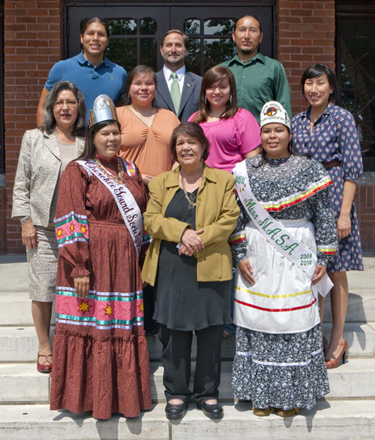 Photo of NSU's Sequoyah fellow and native American students.