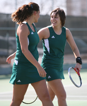 Photo of NSU tennis doubles team.