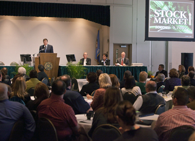 Photo of NSU's economic summit.