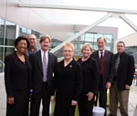 Photo of Tulsa dignitaries at TCC's Center for Creativity Open House.