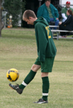 Photo of USAO student soccer player Mark Thompson.