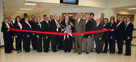 Photo of WOSC's Cooperative Higher Education and Training Center dedication and ribbon cutting ceremony participants.